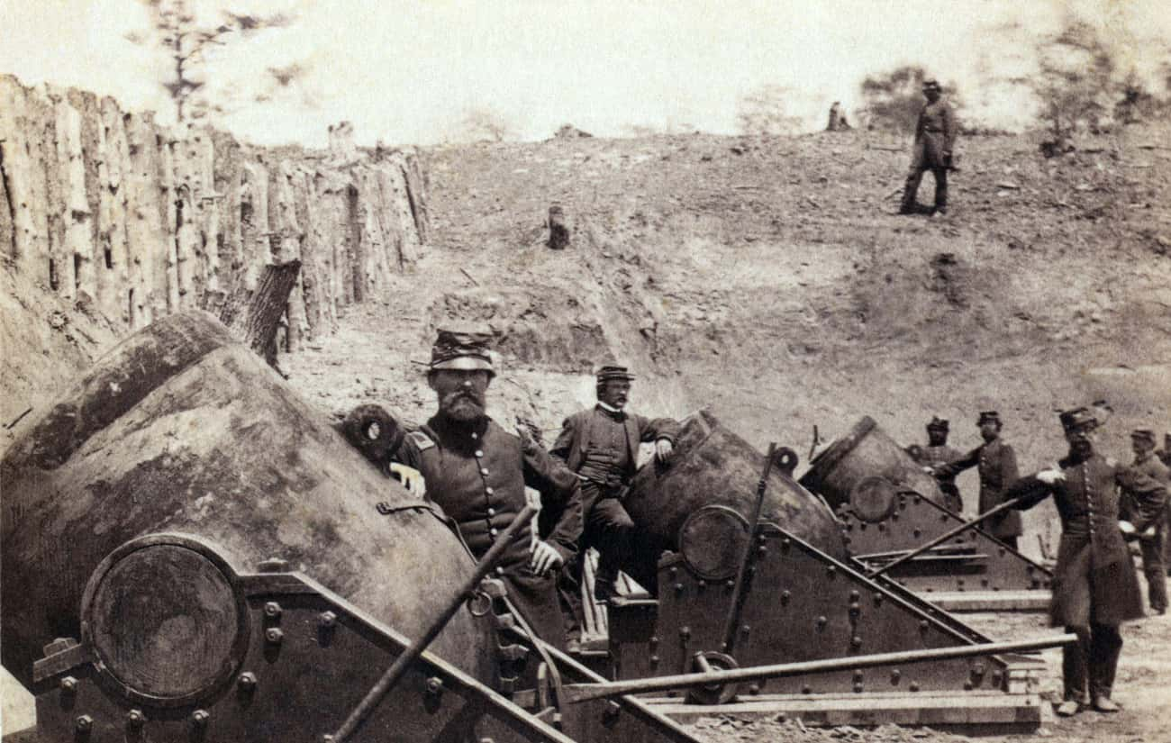 A Battery of Huge Motors at Yo is listed (or ranked) 4 on the list 23 Astounding Civil War Battlefield Photos