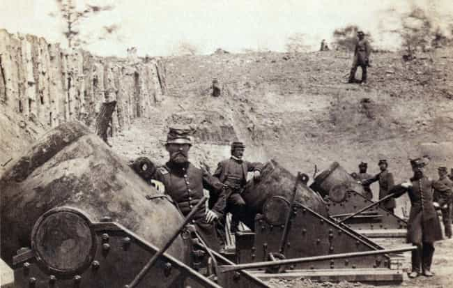 A Battery of Huge Motors... is listed (or ranked) 4 on the list 23 Astounding Civil War Battlefield Photos
