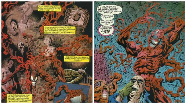 Carnage Turns his Psychiatrist... is listed (or ranked) 3 on the list The 12 Bloodiest, Most Gruesome Things Carnage Has Ever Done