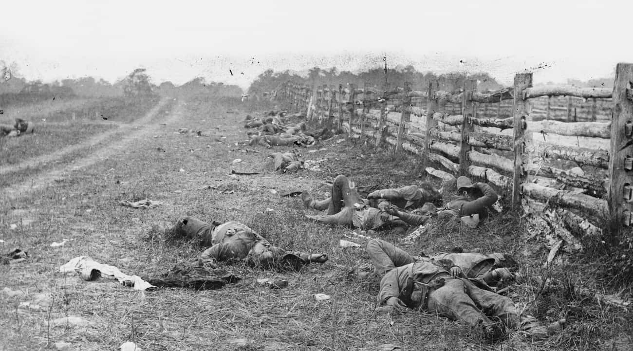 Dead Confederate Soldiers Left is listed (or ranked) 3 on the list 23 Astounding Civil War Battlefield Photos