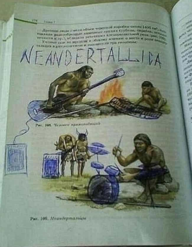 Rolling Stone Age is listed (or ranked) 7 on the list The Funniest Things Bored Students Have Drawn in Their Textbooks