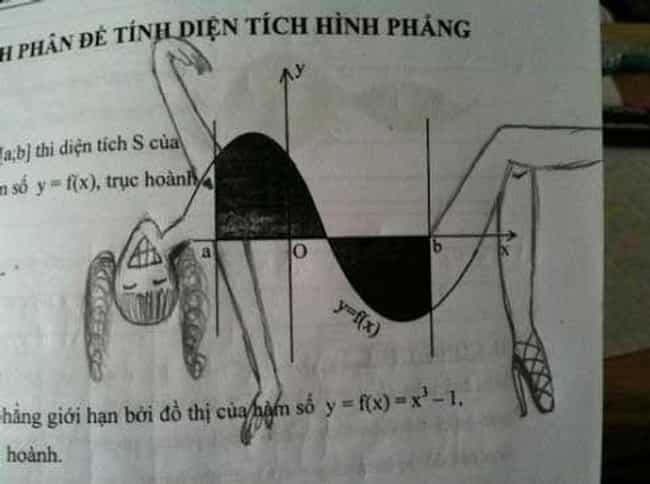 A Lady's Function is listed (or ranked) 6 on the list The Funniest Things Bored Students Have Drawn in Their Textbooks