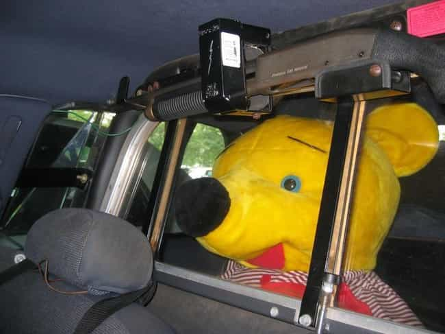 Well, Pooh is listed (or ranked) 4 on the list Hilarious Pictures of People Being Arrested in Costume