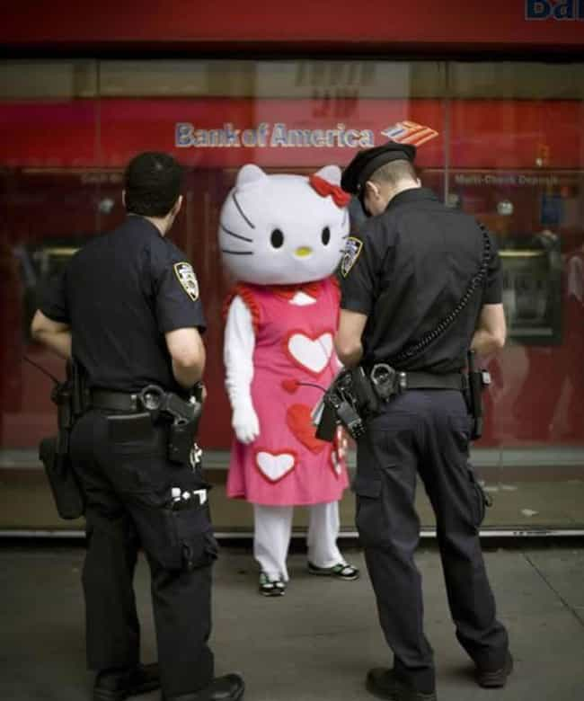 Goodbye, Kitty is listed (or ranked) 2 on the list Hilarious Pictures of People Being Arrested in Costume
