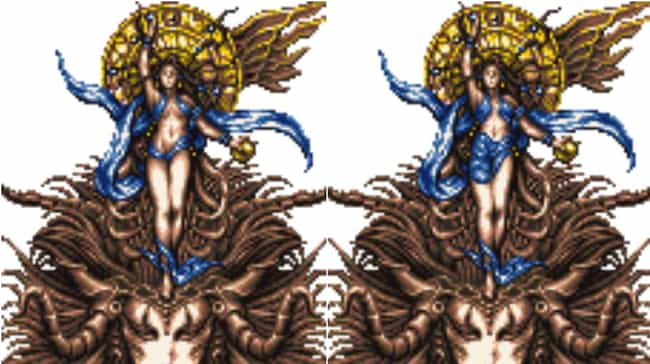 Goddess (Final Fantasy V... is listed (or ranked) 3 on the list 10 Final Fantasy Characters Deemed Too Sexy for America