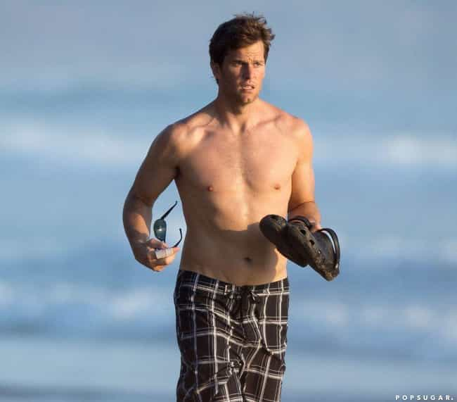 Tom Brady in Board Shorts is listed (or ranked) 2 on the list The Hottest Tom Brady Photos