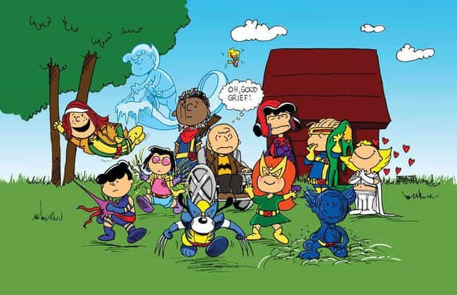 X-Peanuts is listed (or ranked) 1 on the list 22 Funny Cartoon Mashups We Wish Would Really Happen