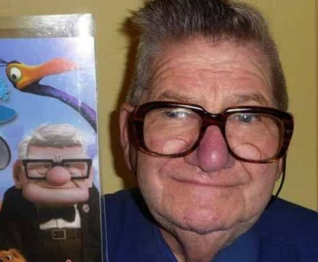 The Real Carl Fredricksen is listed (or ranked) 1 on the list 23 Instantly Recognizable Movie Characters Spotted in Real Life