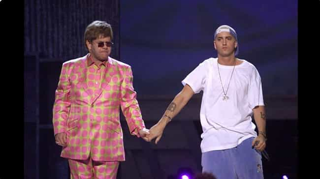Eminem Gave Elton John Two Dia... is listed (or ranked) 4 on the list The Weirdest Gifts Celebrities Have Given Each Other