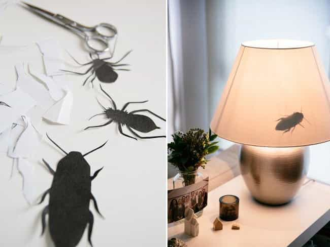 Stick Some Roach Silhouettes i... is listed (or ranked) 2 on the list MORE Funny Pranks To Try On Your Friends