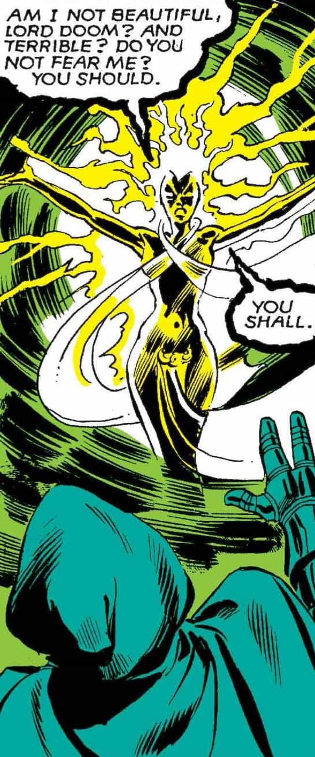 Storm Is Stronger Than E... is listed (or ranked) 1 on the list 10 Epic Moments When Storm Was the Baddest Member of the X-Men