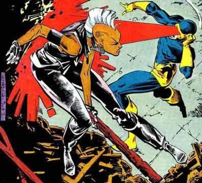 Storm Takes on Cyclops f... is listed (or ranked) 2 on the list 10 Epic Moments When Storm Was the Baddest Member of the X-Men