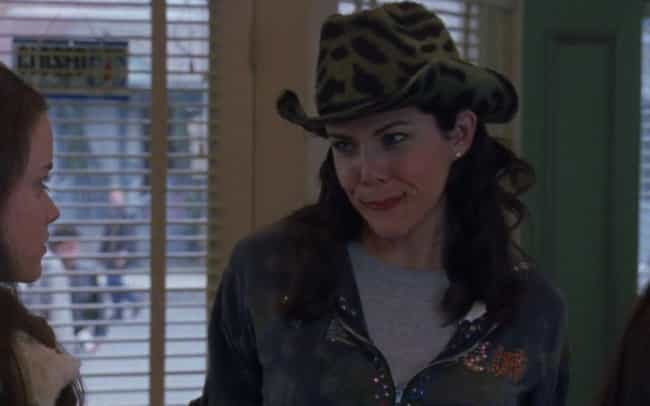 A Rhinestone Sweater and... is listed (or ranked) 1 on the list 15 Gilmore Girls Outfits That Were Too Hideous to Forget