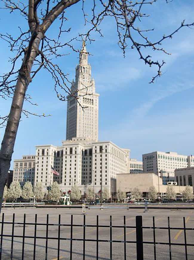 The Terminal Tower is listed (or ranked) 3 on the list 12 Super Haunted Buildings In Cleveland, Ohio