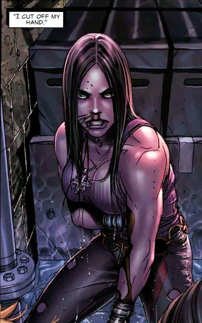 When She Cut Off Her Own Hand ... is listed (or ranked) 4 on the list 23 Times X-23 Was an Even More Savage Wolverine Than Logan