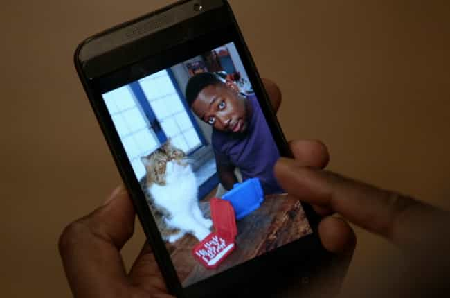 Winston Takes Weekly Selfies w... is listed (or ranked) 2 on the list 15 Winston and Ferguson Moments on New Girl That Capture Cat Lovers Perfectly