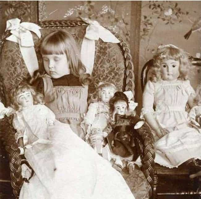 Little Girls Would Practice Mo... is listed (or ranked) 3 on the list 22 Morbid Death And Mourning Customs From The Victorian Era