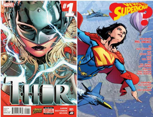 Jane Foster and Lois Lane Taki... is listed (or ranked) 2 on the list 12 Times Marvel and DC Ripped Each Other Off