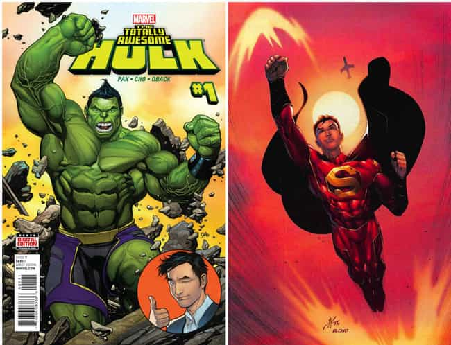 Hulk And Superman Gettin... is listed (or ranked) 4 on the list 12 Times Marvel And DC Ripped Each Other Off