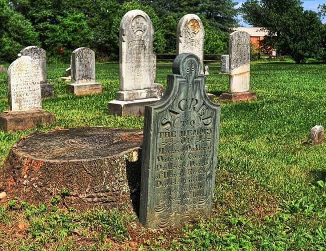 A Revolutionary War Soldier Is... is listed (or ranked) 3 on the list 14 Hidden And Forgotten Cemeteries Across The Northeast United States