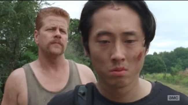 No, Seriously, Abraham and Gle... is listed (or ranked) 4 on the list 12 WTF Moments from the Season 7 Premiere of The Walking Dead