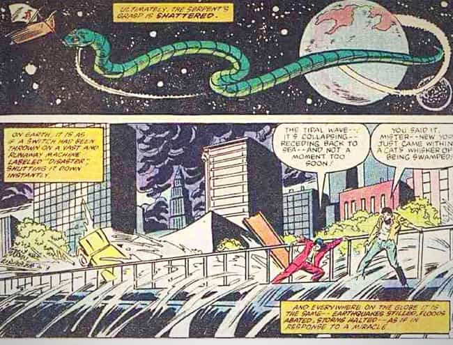 The Midgard Serpent Takes His ... is listed (or ranked) 3 on the list The 13 Worst Natural Disasters in Comic Book History