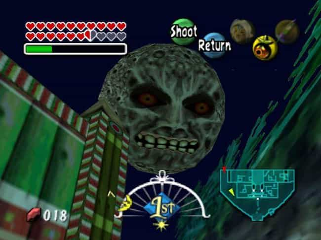 The Creepy Moon That Wil... is listed (or ranked) 3 on the list 10 Reasons 'Majora's Mask' Is The Creepiest 'Zelda' Game Ever Made