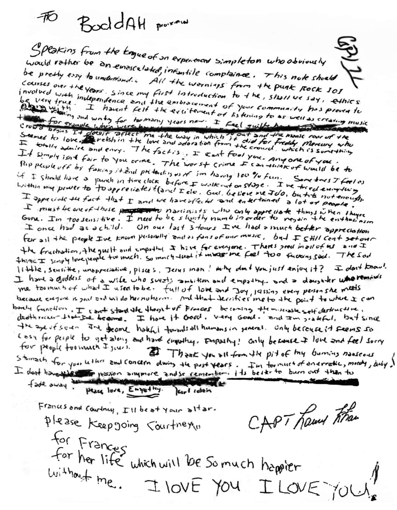 The Suicide Note Was Falsified is listed (or ranked) 3 on the list 12 Kurt Cobain Conspiracy Theories