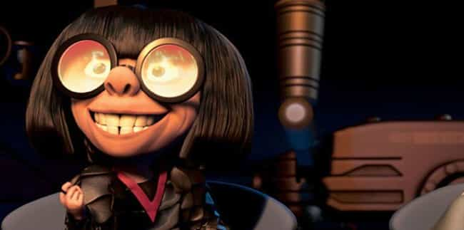 Edna Mode is listed (or ranked) 2 on the list 17 Famous Female Cartoon Characters Voiced by Men