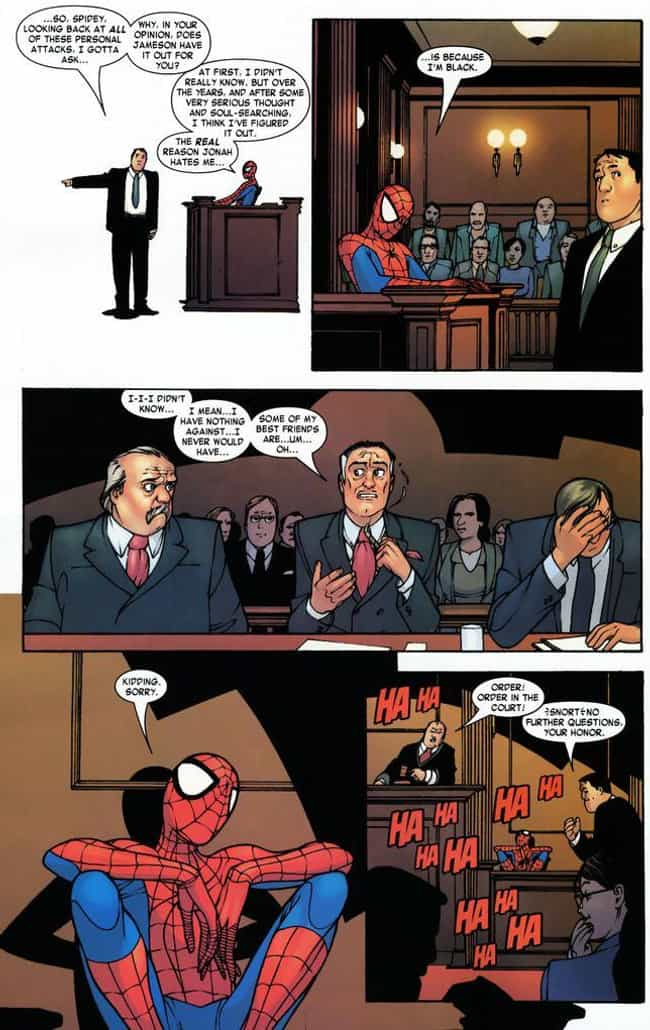 Some of My Best Friends ... is listed (or ranked) 1 on the list 15 of the Funniest Moments from Spider-Man Comics