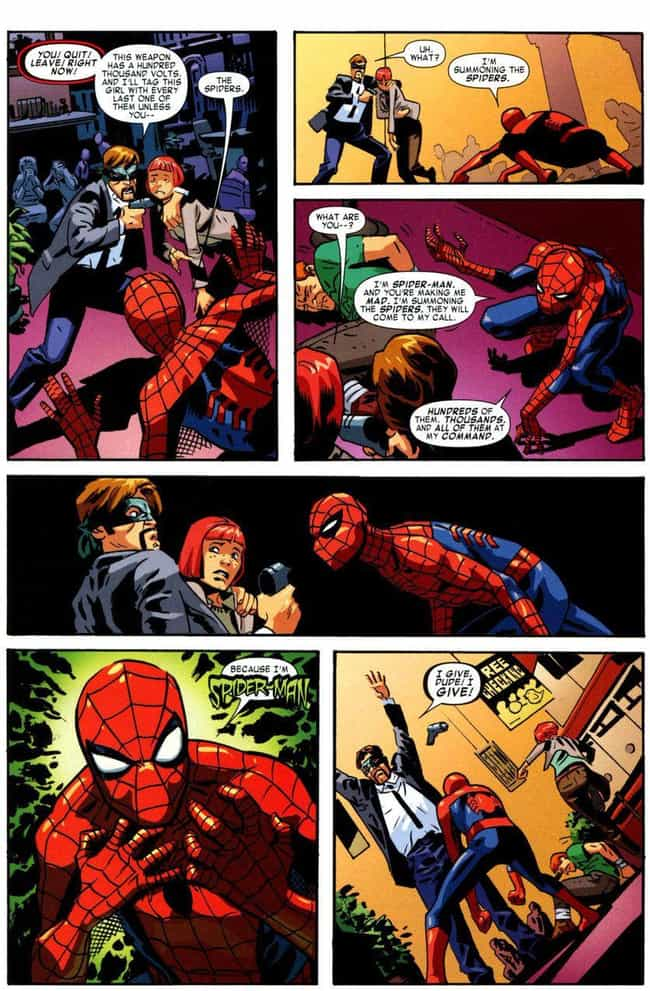 I'm Summoning the Spider... is listed (or ranked) 3 on the list 15 of the Funniest Moments from Spider-Man Comics