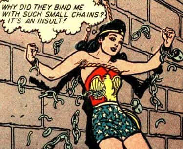 Her Chains Were Inspired by an is listed (or ranked) 2 on the list 8 Secret Calls to Feminism Hidden in Wonder Woman's Costume