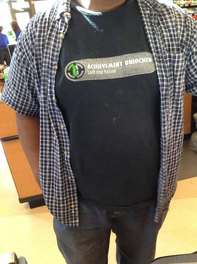 The Great Outdoors is listed (or ranked) 2 on the list 25 Hilarious T-Shirts Every Gamer Should Own