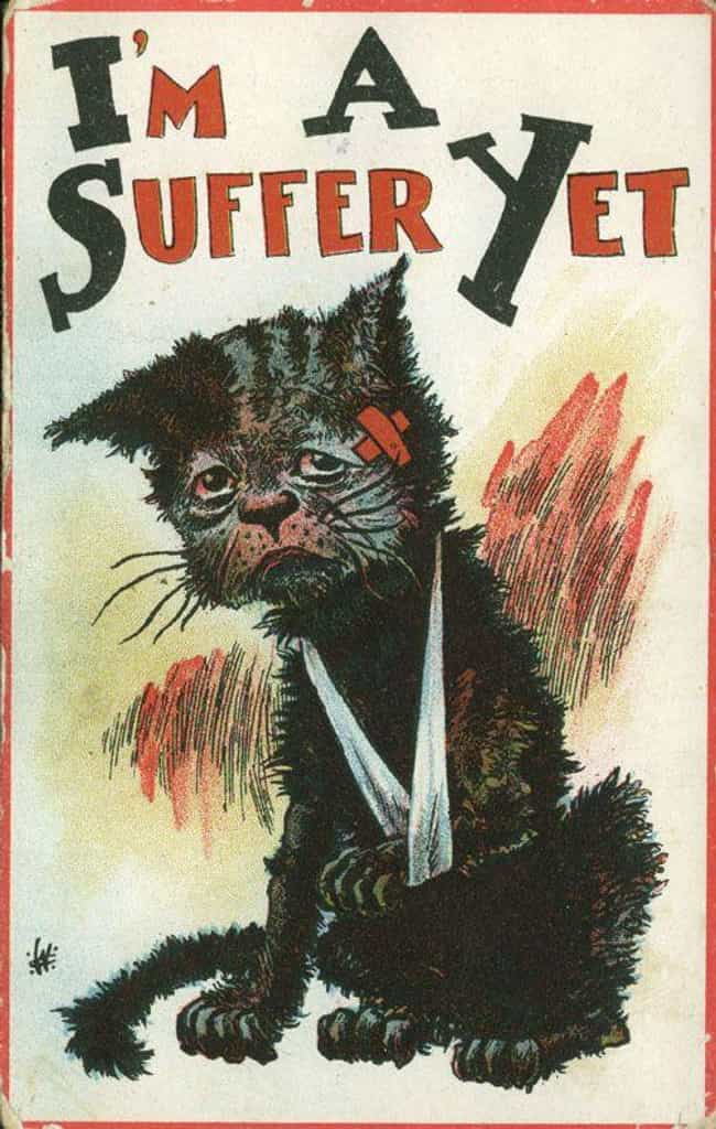"""I'm a Suffer Yet""... is listed (or ranked) 4 on the list 31 Women's Suffrage Postcards That Show How Far We've Come"