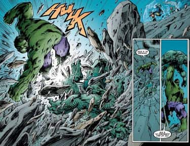 His Most Intense Alien Punch S is listed (or ranked) 1 on the list 11 Hulk Comic Moments That Were Way More Destructive Than the Movie Scenes