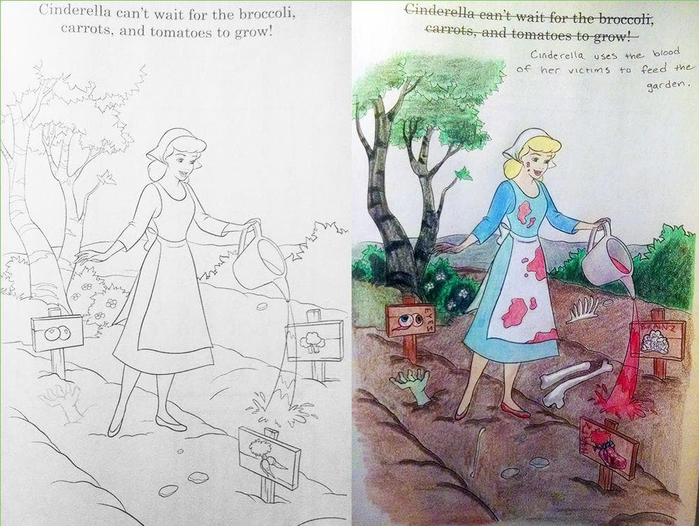 Princess house coloring pages : Disney coloring book corruptions to horrify your inner child
