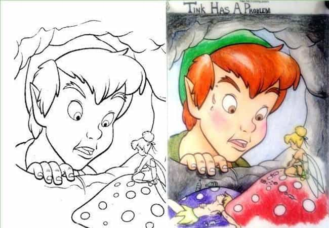 31 Disney Coloring Book Corruptions to Horrify Your Inner ...