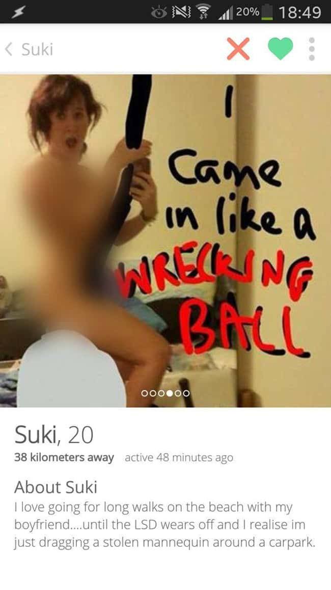 Wreck It, Girl is listed (or ranked) 12 on the list 28 People Who Won at Tinder and at Life