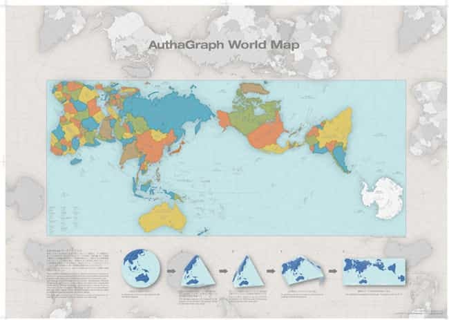 AuthaGraph World Map is listed (or ranked) 1 on the list Some Cool Map Projections and What You Might Use Them For