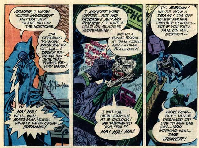 When Batman Believed the Joker... is listed (or ranked) 2 on the list 15 Times Batman and the Joker Actually Worked Together (No, Really)