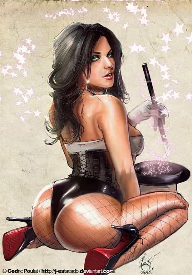 Zatanna in Corset with Magic H... is listed (or ranked) 1 on the list Sexy Zatanna Pictures