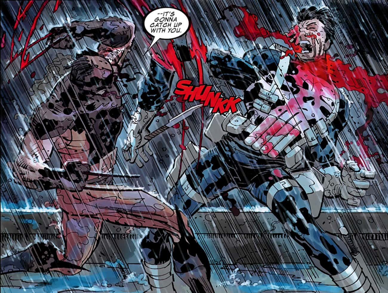 When Daken Fileted Him is listed (or ranked) 4 on the list 14 Times the Punisher Had His Rear Handed to Him