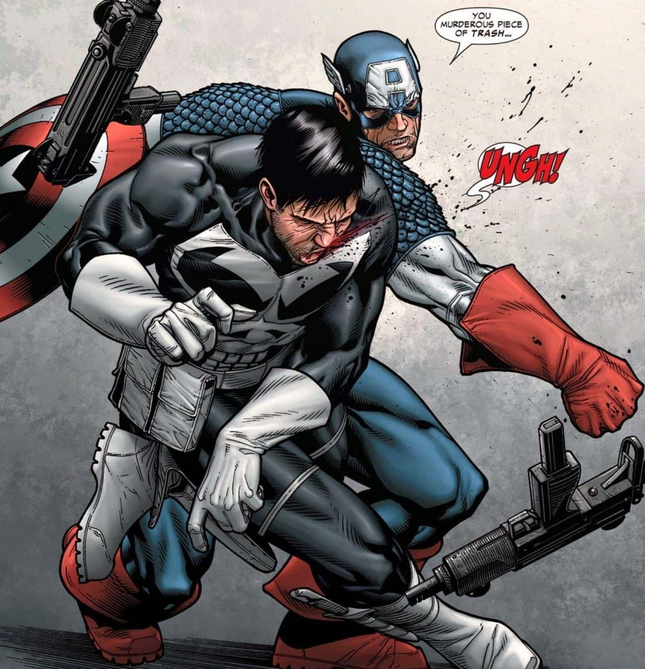 When Captain America Had Enoug is listed (or ranked) 2 on the list 14 Times the Punisher Had His Rear Handed to Him