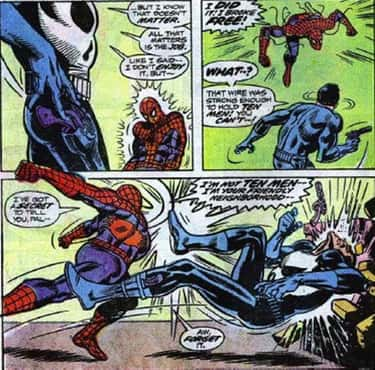 When Spider-Man Spoiled the Pu is listed (or ranked) 5 on the list 14 Times the Punisher Had His Rear Handed to Him