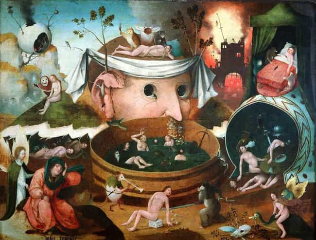 Tondal's Vision is listed (or ranked) 3 on the list 12 Insanely Disturbing Hieronymus Bosch Paintings That Will Overload Your Mind