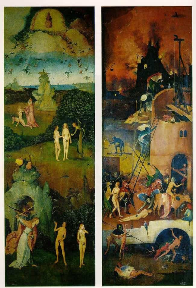 Paradise and Hell is listed (or ranked) 4 on the list 12 Insanely Disturbing Hieronymus Bosch Paintings That Will Overload Your Mind