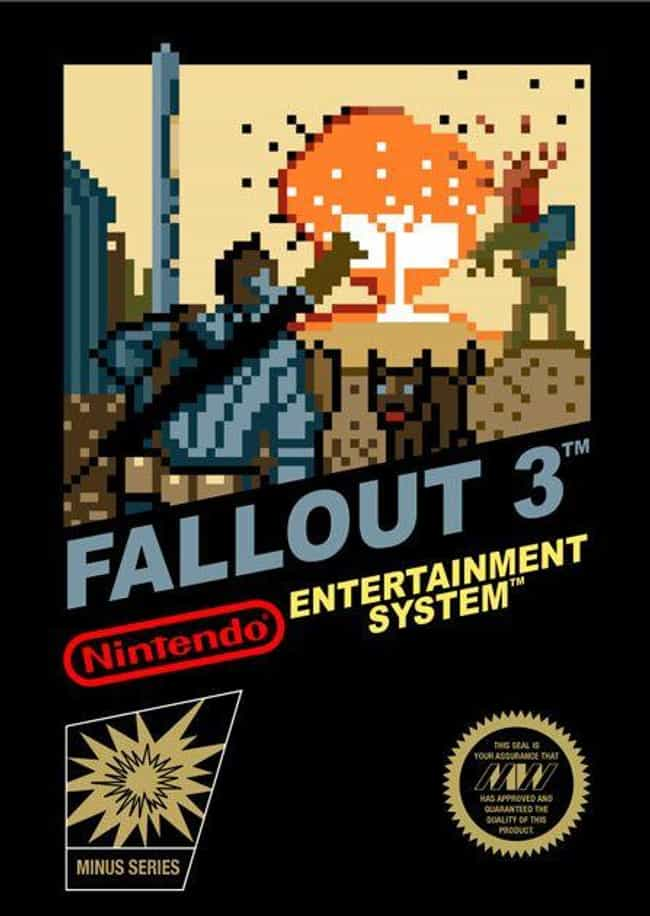 Fallout 3 is listed (or ranked) 1 on the list 24 Modern Games Reimagined as NES Covers