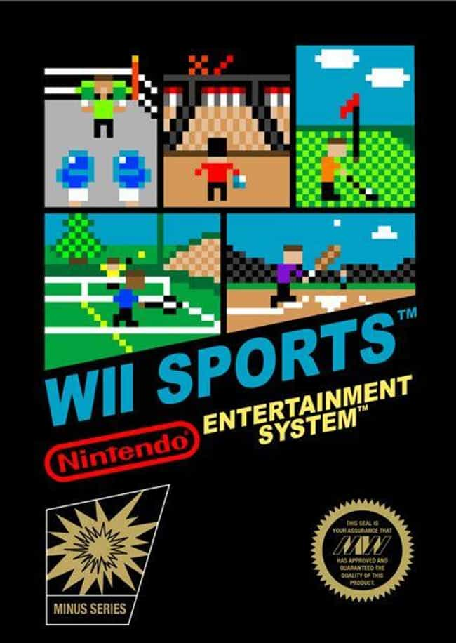 Wii Sports is listed (or ranked) 8 on the list 24 Modern Games Reimagined as NES Covers