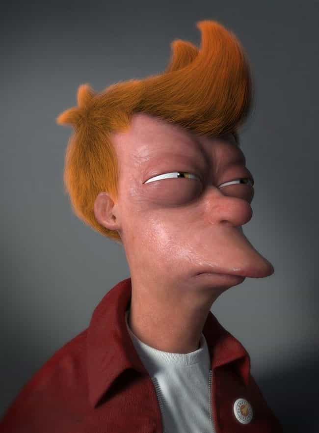 Fry-tening is listed (or ranked) 4 on the list 21 Horrifyingly Realistic Versions Of Your Favorite Cartoon Characters