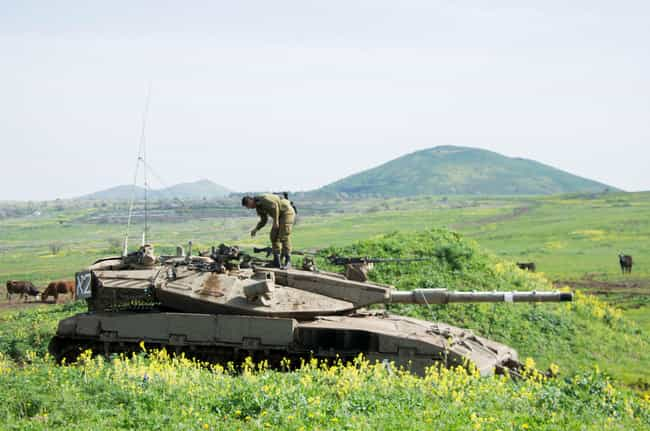 Israel & Syria, Golan Heights is listed (or ranked) 1 on the list 26 Striking Photos of Dangerous & Contested Borders Around the World